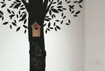 Paredes y muebles decorados INFANTIL / Decorar paredes y muebles infantiles.