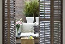 RHS Chelsea Flower Show 2017 inspired window shutters and flowers