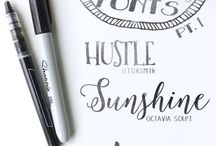 Get Your Writing On / All your calligraphy basics, as well as a few of my favourite quotes written beautifully.