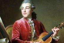 Портрет  Мужчина и музыкальный инструмент