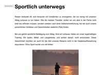 Sport und Reisen - fit unterwegs / Reise Report / we do it, once we are at home, we do it, in the rest of the world, sport, running