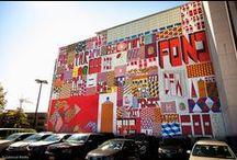 Barry McGee Mural / #barrymcgee hand painted wall mural with Barry Mcgee, Twist , and Vanity Fair  #twist #vanityfair #handpaint / by Colossal Media