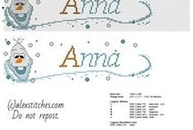 Cross stitch baby names / Free cross stitch baby male and female names...