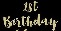 1st Birthday Ideas / Is your little one turning 1? Take a look at these fantastic first birthday birthday party ideas.