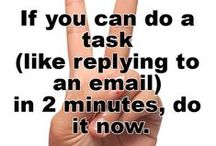 Productivity / Time management tips