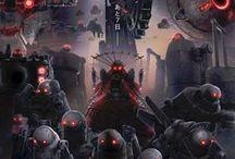 Nier Automata / Anime game - 2B, 9S, A2, Adam, Eva and Yorha