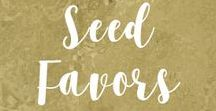 Seed Favors / Seed favors for weddings, christenings, birthdays, memorials, baby showers and bridal showers.