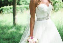 Wedding dress, nails, hair
