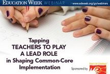 Common Core and K-12 Education / Artwork and free webinars and chats from Education Week's virtual events programming around the Common Core.