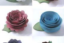 цветы-бумажные для декоративных веночков / декоративные веночки