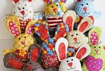 игрушки текстильные -зайцы / игрушки