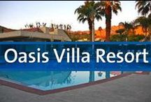 Oasis Villa Resort - Palm Springs, California / The Oasis Resort is nestled beneath the 10,831 foot Mt. San Jacinto in the fashionable desert resort community of Palm Springs, California. Palm Springs has more than 80 golf courses in a 20 mile radius, more than 600 tennis courts, 35 miles of bicycle trails, horseback riding, and over 10,000 swimming pools! The resort is spread over 27 acres of landscaped grounds, encompassing eight swimming pools and nine spa pools, five tennis courts, stately water fountains and softly lit walkways.