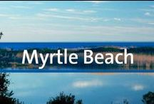 Destination Guide - Myrtle Beach, South Carolina / Myrtle Beach attracts millions of visitors a year for its never-ending sunshine and beaches, not to mention the pristine golf courses and endless entertainment dispersed throughout the area. It's the prototypical vacation hotspot. The city, located at the heart of the 60-mile shoreline along the Pacific Coast known as the Grand Strand, can be overwhelming if you've never been there. This board should make it easy to plan your trip.