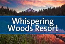 Whispering Woods Resort - Welches, Oregon / Whispering Woods is located in an extensive resort community that featuring a 27-hole golf course, an outdoor pool and hot tub, tennis courts and a restaurant. Winding through the area's attractive landscape are roads suitable for bicycling and jogging. Surrounding the resort is Mount Hood National Forest, accented with lakes, waterfalls, glaciers, and extensive hiking trails. Mount Hood is always snowcapped, allowing year-round skiing. For a change of pace, take a side trip into Portland.