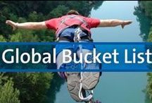 """Global Bucket List / It would take an eternity to see everything the world has to offer, which is why travelers boil everything they want to see in their lifetime down to a single list.   Inspired by our destinations and our member's suggestions, this is our """"community"""" bucket list."""