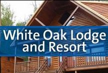 White Oak Lodge and Resort - Gatlinburg, Tennessee / With more than 9 million annual visitors, the Great Smoky Mountains National Park is a proven resort destination. And from White Oak Lodge and Resort, you'll be steps from the park, where you can explore the nature trails and so much more. In fact, you just might capture a glimpse of a black bear or a deer from your patio. Each newly renovated 2-bedroom, 2-bath condominium offers flat screen televisions in each bedroom plus the living room, kitchen, ceiling fans, gas fireplace and washer/dryer.