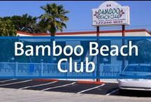 Bamboo Beach Club - Clearwater, Florida / Just a short walk from the sunny shores of Clearwater Beach and all the fun it has to offer. On-site amenities include parking and walking access to the beach, outdoor pool, green picnic area, outdoor shower, guest laundry and free Wi-Fi. Bright Florida-beach style units are studio, one- and two-bedroom, villa and a coastal house for larger groups. All units have a mini-kitchen or full kitchen, flat screen TVs and cable.