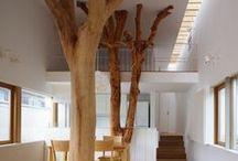puu sisustuksessa / aito puu lämmittää
