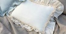Linen Pillow Sham, Shabby Chic Pillowcases / SCL's expertly handcrafted natural linen sham offer a wide range of styles in piping finish, ruffles, shabby chic mermaid long ruffles, flange, bolster pillow, bow ties, wooden buttons, French country ruffles and more. Free linen swatches http://www.superiorcustomlinens.com/swatches