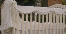 Bumperless Crib Beddings / Crib rail covers protect your precious crib rails from baby teeth. Rail covers can be done in many different shapes, accented with ruffles or piping or ties.  Natural linen crib rail cover is hypoallergenic.