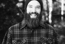B E A R D in plaid / bearded men in different forms of plaid