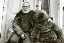 B E A R D and bears / bearded men with bears - cosy.