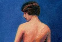 My figurative paintings and nudes / The figure is very challenging and I'm always practicing!