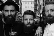 triple B E A R D / 3 or more bearded men in a row(ish)