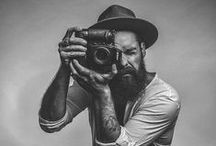 B E A R D and cameras / men with beards taking photos (or holding cameras type thing)