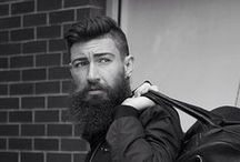 B E A R D and bags / bearded men with bags