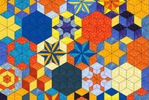 Hexagon Garden Quilt / Ideas for a cottage garden themed quilt with hexagon blocks
