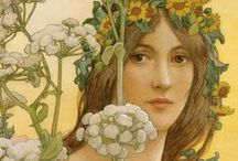 never too much... Art Nouveau / Mucha, jewelry and more