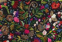 Ткани, орнаменты и вышивки