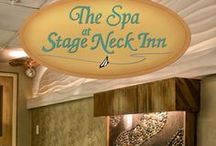 The Spa @ Stage Neck / Our intimate spa area consists of a couple's massage room, body treatment room, and one-person nail treatment room. Guests not staying at the Inn scheduling $50 or more in Spa treatments/services may enjoy use of our indoor pool, hot tub, fitness center, sauna and applicable locker room on the day of their appointment. Advanced reservations strongly recommended; please call 800-340-1130, extension 452. For specials and packages, visit http://www.stageneck.com/spa-booking-and-cancellation.html
