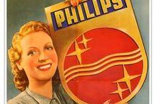 Vintage advertising / Philips advertenties, posters en commercials uit het verleden