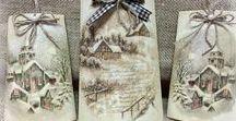 dal WEB - Natale decorazioni legno ceramica carta metallo... / decorazioni e natività in feltro