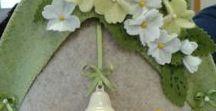 dal WEB - cose di Pasqua / decorazioni in feltro per periodo pasquale