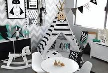 Kids Playroom- Monochrome
