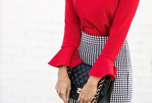 Lady in Red. / For the street savvy senoritas
