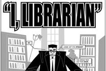 "We Love Librarians / ""In the nonstop tsunami of global information, librarians provide us with floaties and teach us to swim.""  / by Deschutes Public Library"