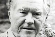 "Oregon Authors / ""Kids: they dance before they learn there is anything that isn't music."" Oregon poet William Stafford / by Deschutes Public Library"