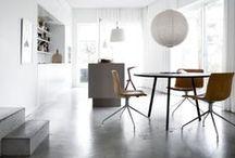 TrendHunting #1 · Concrete style / Concrete style interiors. Concrete ceramic tiles. Flooring and Interiors.