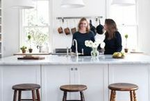 the kitchen / Kitchens are where families congregate, memorable discussions take place, and the food of life is eaten. Here are  kitchen and dining room ideas- from faucets to wall decor, vintage to contemporary.