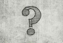 Punctuation / Inspiration for a series of punctuation mark designs