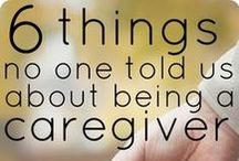 Caregiving / As we progress on this path called life, we all are in the role of giving or receiving care.  It can be a demanding role, not matter which side of it you are.  It can also be very enriching in many ways.