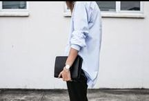 THE COTTON SHIRT / Never underestimate the power of a button-down... http://www.atterleyroad.com/the-road/an-ode-to-the-shirt/ #streetstyle #fashion #inspiration #style #effortless #contemporary #modern #classic #inspiration
