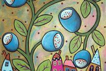 Art folk abstrakcja Karla Garden / Zaczarowane