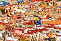 Guanajuato, México / No he visitado esta ciudad colonial, pero me fascinan sus fuertes colores que llenan a uno con su energía.