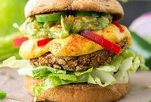 Vegan Burgers + Sandwiches / Meaty burgers without the meat. Veggie burgers and sandwiches that will please carnivores and omnivores alike.