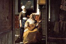 Johannes Vermeer / Me atraen sus obras cuando alcanzan la sensación perfecta de intimidad sin poses: las mujeres metidas en su propio mundo, de tal manera concentradas como el pintor mismo en su propio pintar.